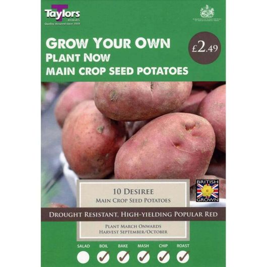 Taylors Seed Potato Starter Pack - Desiree Main Crop (10)