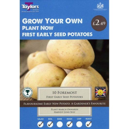 Taylors Seed Potato Starter Pack - Foremost First Earlies (10)