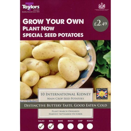 Taylors Seed Potato Starter Pack - International Kidney Main Crop (10)