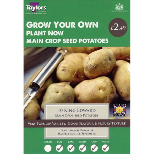 Taylors Seed Potato Starter Pack - King Edward Main Crop (10)