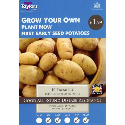 Taylors Seed Potato Starter Pack - Premier First Earlies (10)