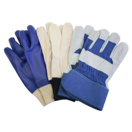 Town & Country Mens Gardening Gloves - 3 Pair Pack