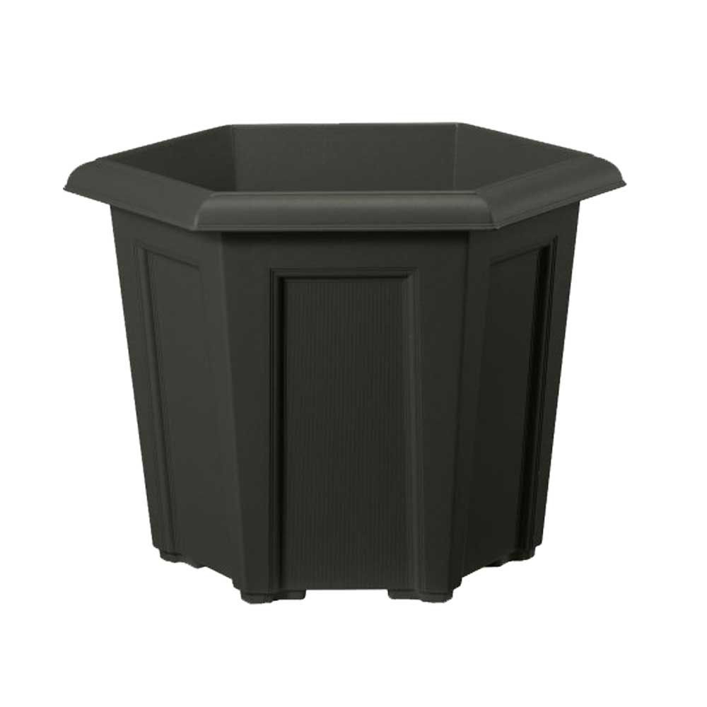 Regency Hexagonal Planter 40cm Black