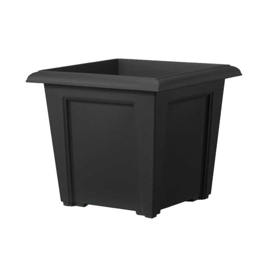 Regency Square Planter 40cm Black