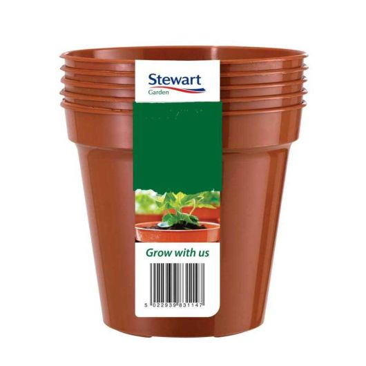Flower Pot 12.7cm Terracotta - 5 Pack