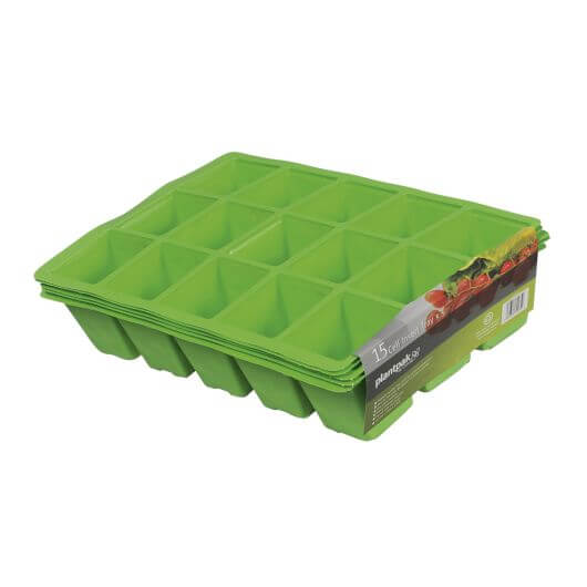 Seed Tray Inserts 15 Cell by PlantPak