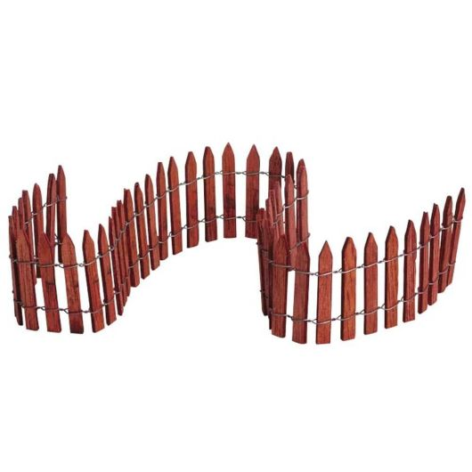 "Lemax Wired Wooden Fence 18"" (84813)"