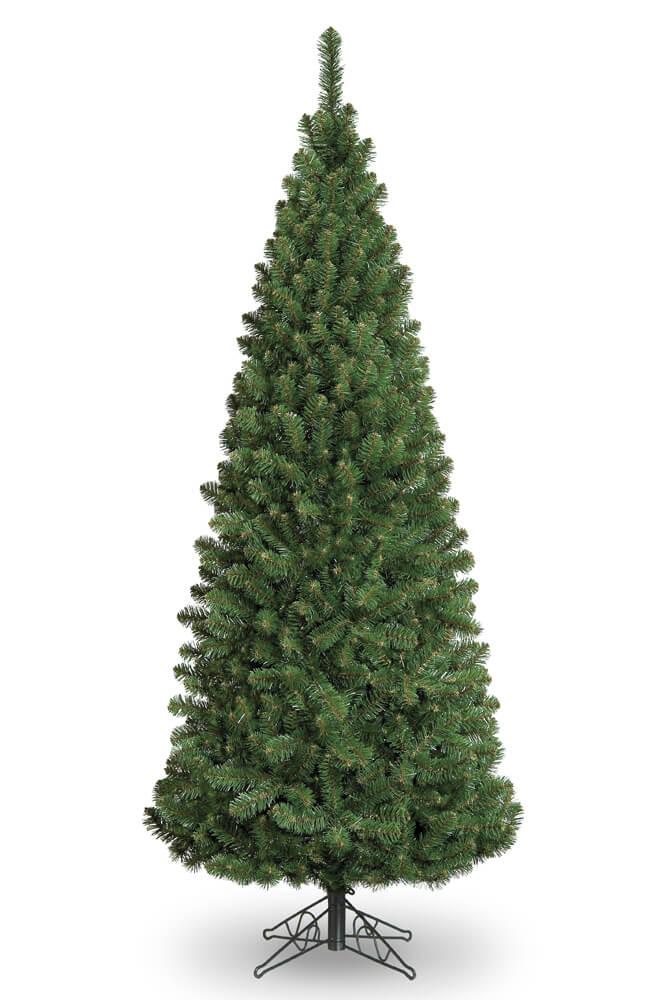 6ft Slim Glacier Fir Pencil Artificial Christmas Tree