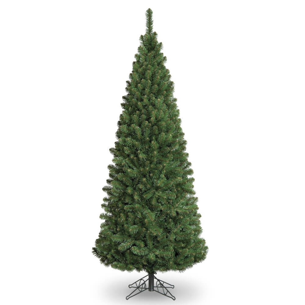 6ft Slim Glacier Fir Pencil Artificial Christmas Tree ...