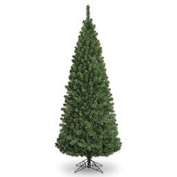 7ft Slim Glacier Fir Pencil Artificial Christmas Tree