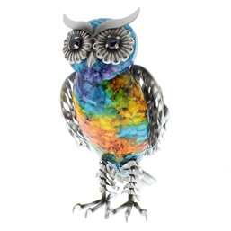 See more information about the Juliana Natural World Hand Painted Large Standing Metal Owl