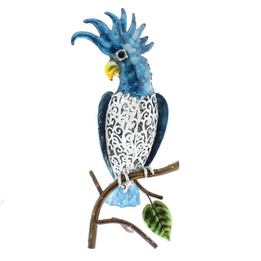 Juliana Natural World Hand Painted Metal Cockatoo on a Branch