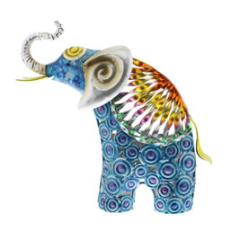 See more information about the Juliana Natural World Hand Painted Metal Standing Elephant