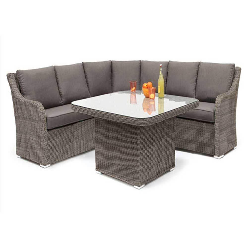 Kettler madrid rattan casual dining corner suite garden for Furniture madrid