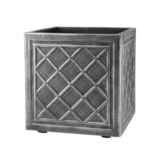 Lead Effect Square Planter 32cm