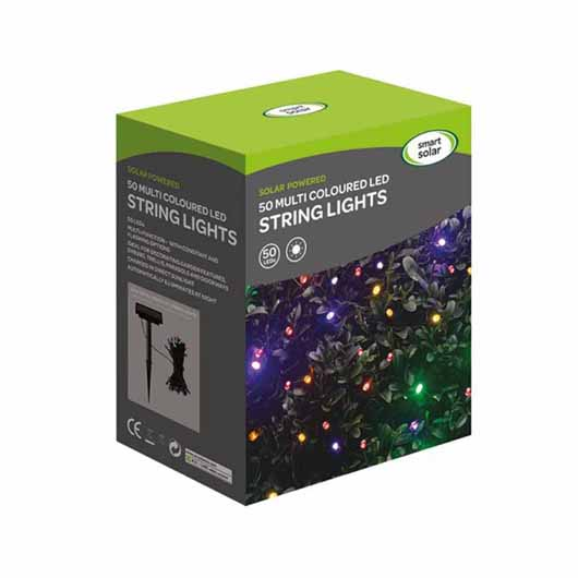 Smart Garden - 50 Multi Coloured LEDs String Lights