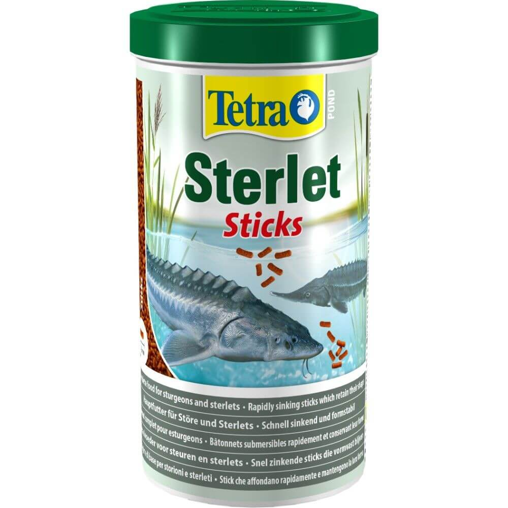 Tetra pond sterlet sticks 1 litre garden store online for Pond fish food