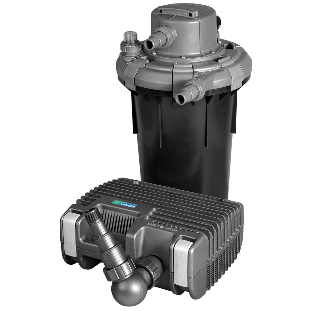 Hozelock bioforce 4500l set small garden store for Pond pump and filter system