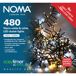 Noma 480 LED Warm White/White Cluster Lights