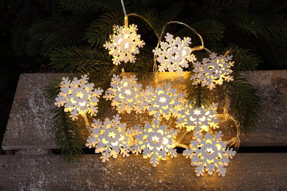 Noma Battery Operated 10 LED Warm White Metal Snowflake