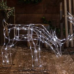 Noma 100 LED White Naked Frame Grazing Deer