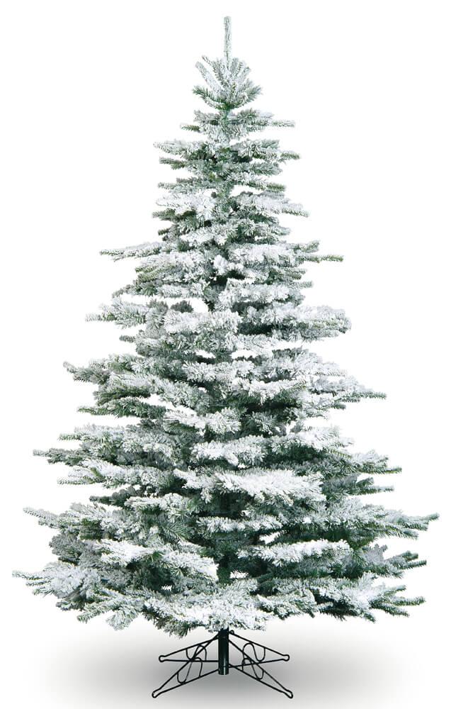 8ft Medium Flocked Noble Artificial Christmas Tree | Garden Store ...