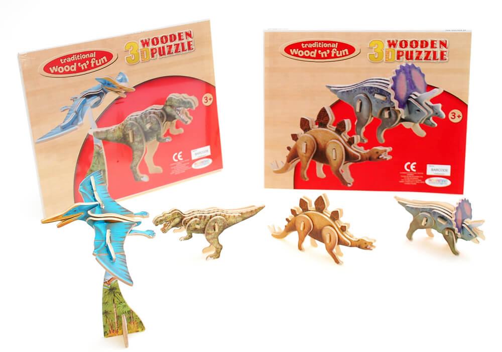 Ackerman Wooden 3d Dinosaur Set Of 2 Garden Store Online