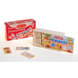 See more information about the Ackerman Wooden Farm Domino Game