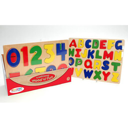 See more information about the Ackerman Wooden Educational Letter & Number Puzzle