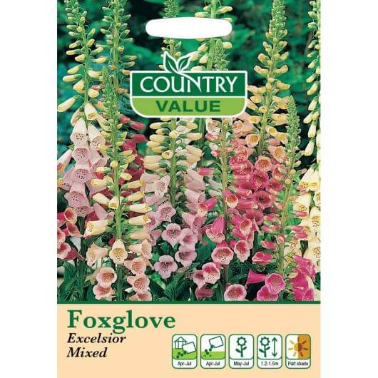 Foxglove Excelsior Mixed CV MF Seeds