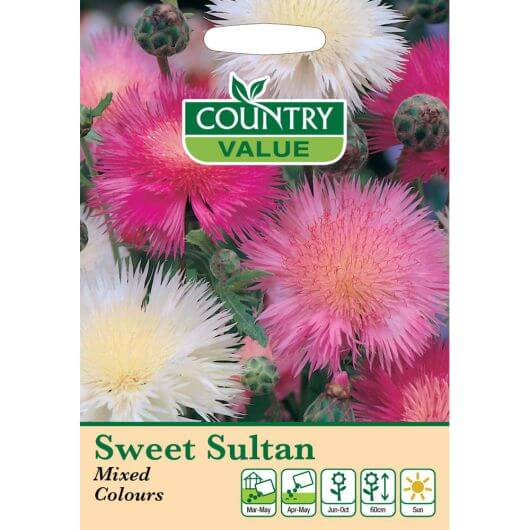 Sweet Sultan Mixed Colours CV MF Seeds