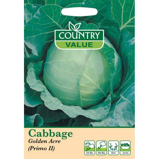 Cabbage Golden Acre (Primo II) CV MF Veg Seeds