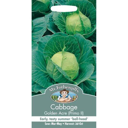 Cabbage Golden Acre (Primo II) MF Veg Seeds
