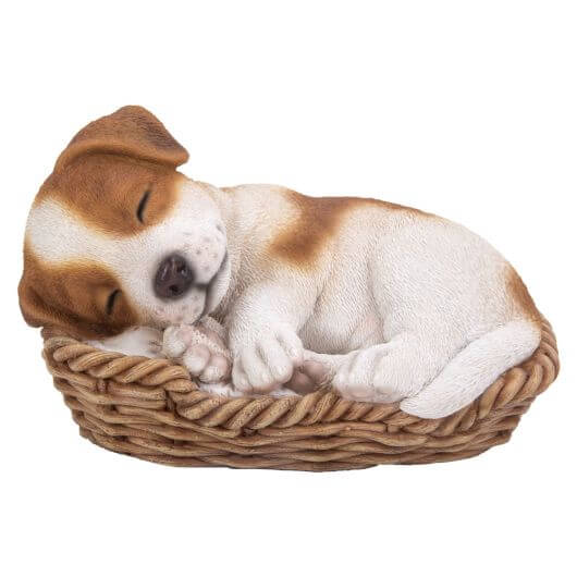 Vivid Arts Jack Russell Puppy in Basket