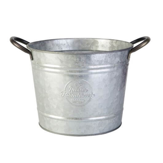 "Washtub Planter 8"" Galvanised"