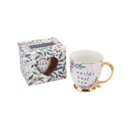 'World's Best Mum' Fine Bone China Mug