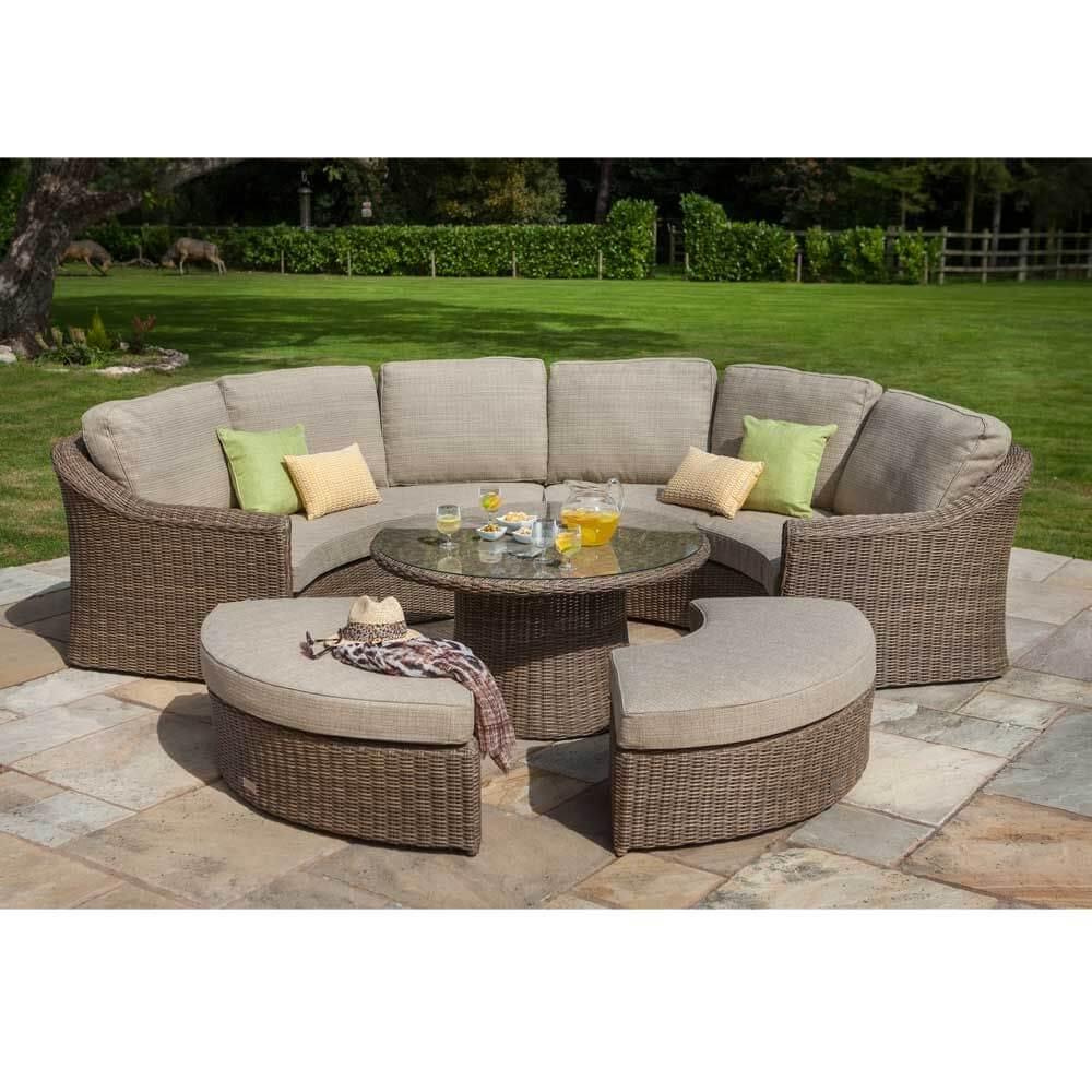 hartman bali curved lounge set in chestnut tweed. Black Bedroom Furniture Sets. Home Design Ideas