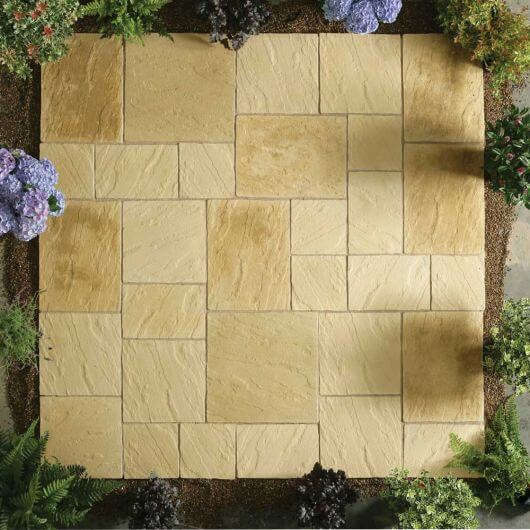 Kelkay Abbey Paving Random Patio Kit 5.76 m² York Gold
