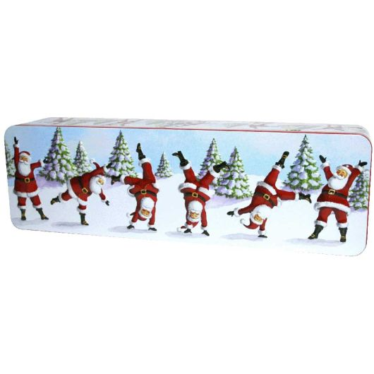 Grandma Wilds Embossed Dancing Santa Tin 200g