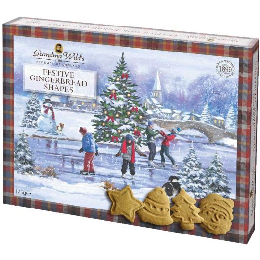 Grandma Wilds Gingerbread Festive Shapes Box 175g