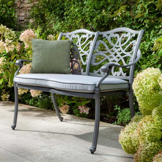Hartman Capri Bench in Antique Grey