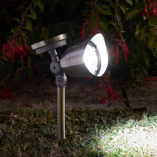 Smart Garden Solar Mega Spotlight in Stainless Steel