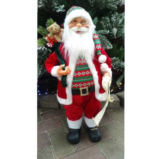 61cm Standing Santa Red/Green