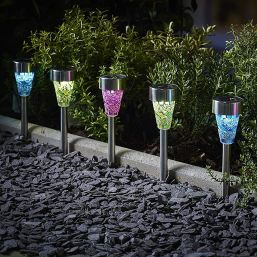 Cole & Bright Solar Mosaic Border Light - 6 Pack