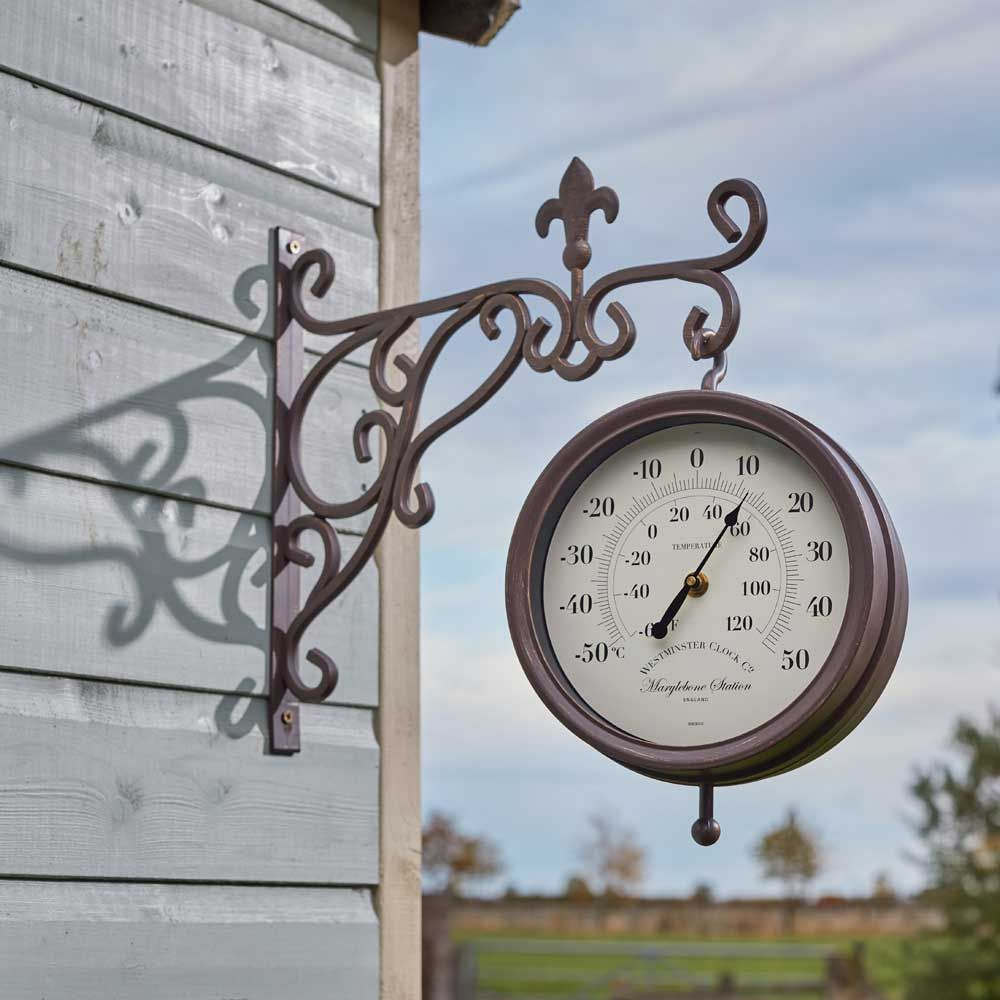 Smart Garden Double Sided Marylebone Station Clock & Thermometer