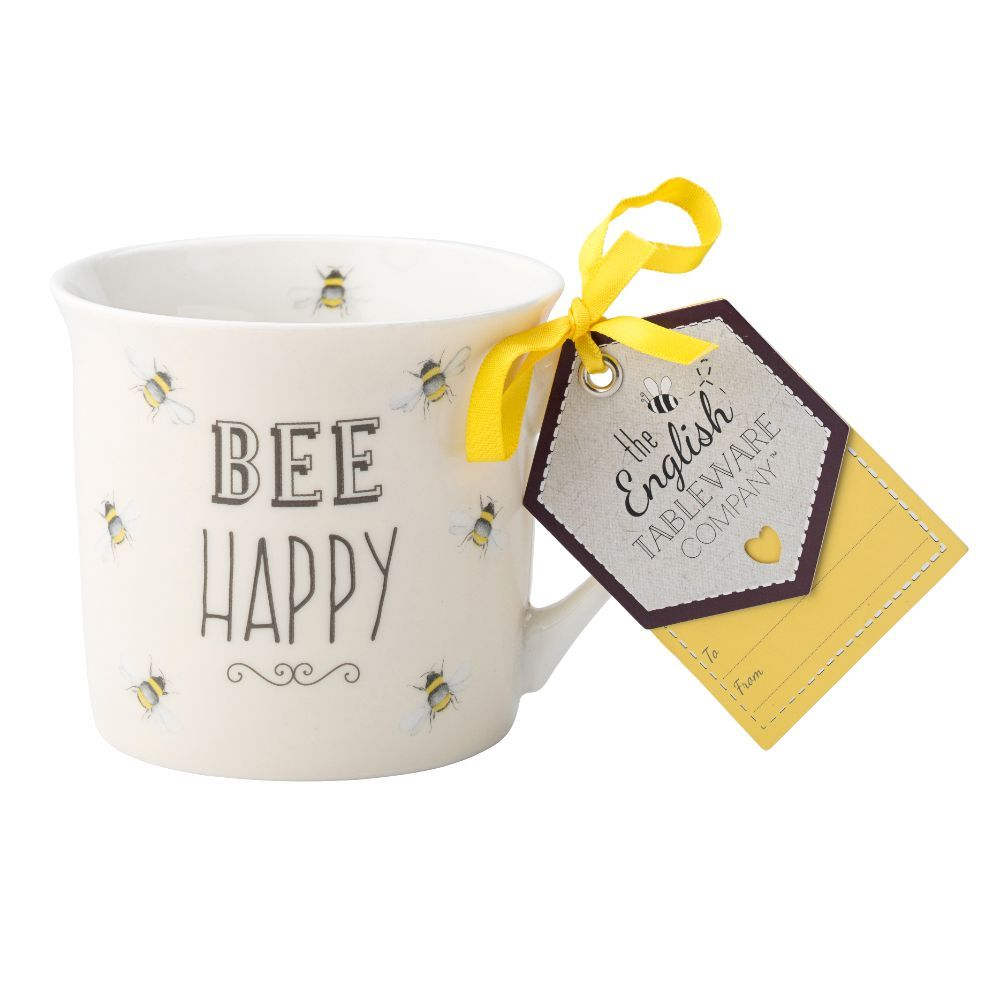Bee Happy Fine China Mug - Bee Happy