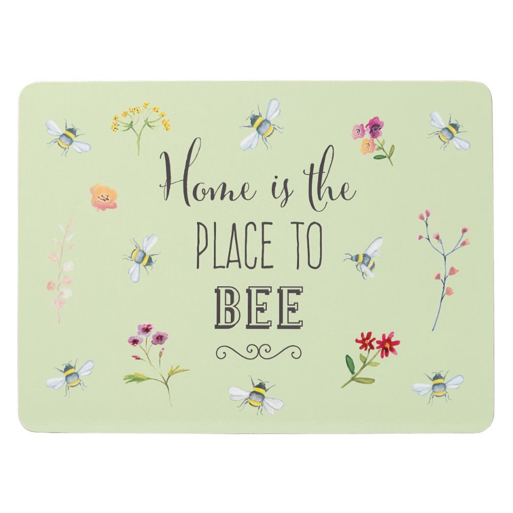 Bee Happy Set of 4 Placemats