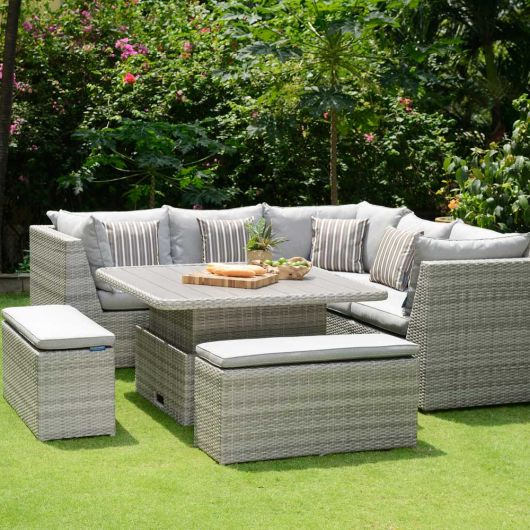 Lifestyle Garden Aruba Corner Set with Benches
