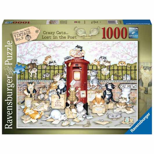 Crazy Cats - Lost in the Post 1000 Piece