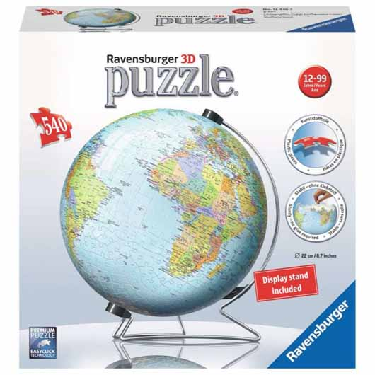 The World on V-Stand 3D Puzzle 540 Piece